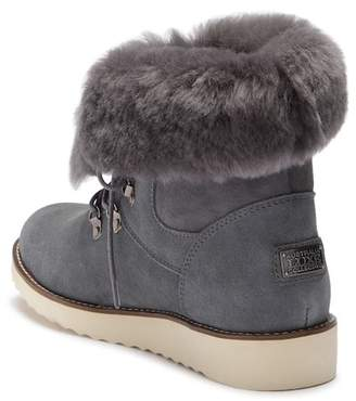 Australia Luxe Collective Yael Genuine Sheepskin Fur Foldover Shaft Boot