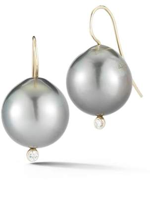 Mizuki Diamond & Pearl Drop Earrings