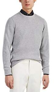 P. Johnson Men's Wool-Cashmere Crewneck Sweater - Gray