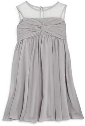 Us Angels Girls' Illusion Knot Front Dress - Big Kid