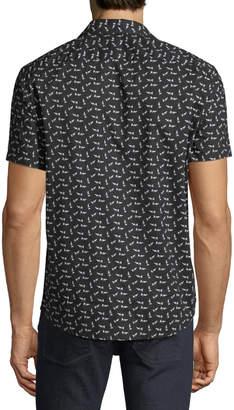 Slate & Stone Men's Abstract-Print Short-Sleeve Sport Shirt