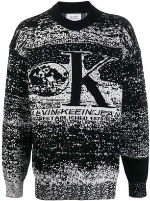 Calvin Klein Jeans Est. 1978 monochrome knit sweater