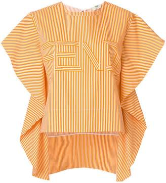 Fendi striped ruffled blouse
