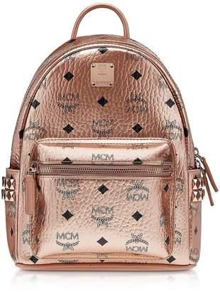 MCM Champagne Gold Mini Stark Backpack