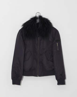 Yves Salomon Nylon & Fur Rabbit Jacket