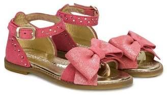 MonnaLisa glitter bow sandals