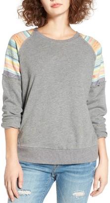 Women's Rip Curl Sun Stripe Sweatshirt $49.50 thestylecure.com