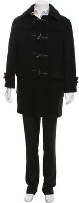 Burberry Wool Nova Check-Lined Toggle Coat