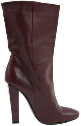 Jimmy Choo Burgundy Leather Boots