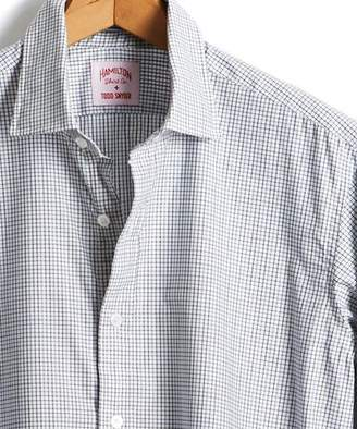 Hamilton Made in the USA + Todd Snyder Micro Grid Dress Shirt in Grey