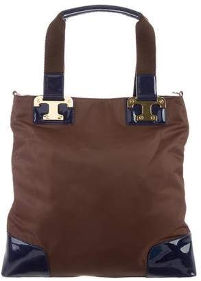 Tory Burch Isa Leather-Trimmed Tote