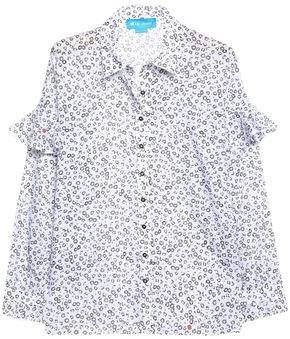MiH Jeans Baylis Ruffle-Trimmed Floral-Print Cotton-Gauze Shirt