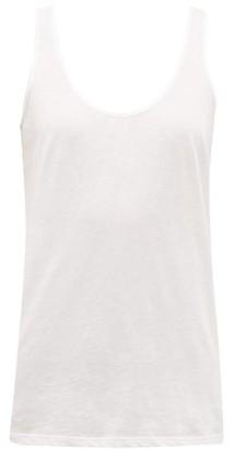 Skin - Scoop Neck Pima Cotton Tank Top - Womens - White