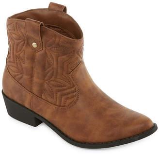 Arizona Womens Murano Cowboy Boots Block Heel Slip-on