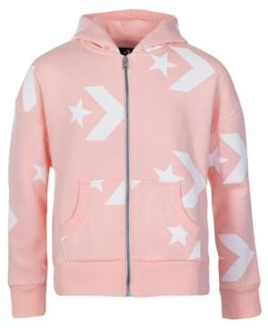Converse Big Girls Full-Zip Logo Hoodie
