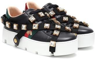 Gucci Ace embellished platform sneakers