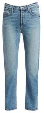 Mother Tomcat High-Rise Straight-Leg Ankle Jeans