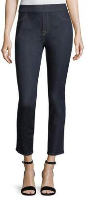 7 For All Mankind Jen7 by Riche Touch Rinsed Night Comfort Skinny Ankle Jeans
