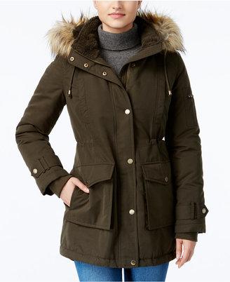 RACHEL Rachel Roy Faux-Fur-Trim Hooded Parka, Only at Macy's $200 thestylecure.com