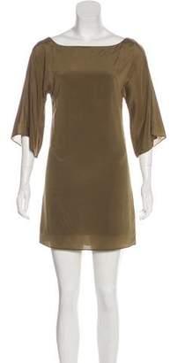 Alice + Olivia Silk Blend Mini Dress