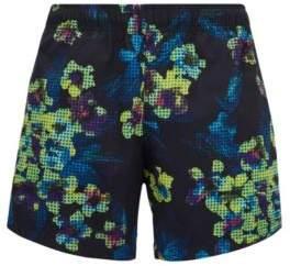 BOSS Hugo Short-length quick-dry swim shorts modern floral print M Open Grey