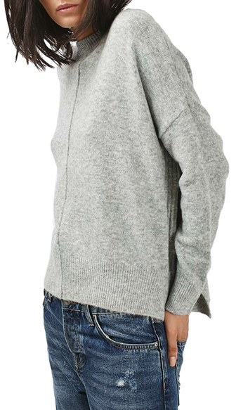 Women's Topshop Zip Side Sweater