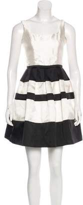 ABS by Allen Schwartz Pleated Mini Dress