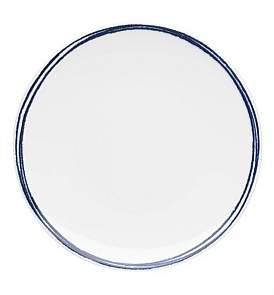 David Jones Shibori Blue Rim Dinner Plate 28Cm