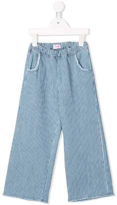 Il Gufo striped flared trousers