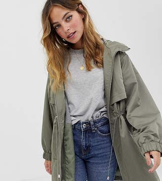 Asos DESIGN Petite lightweight parka with jersey lining