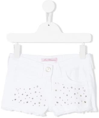 Miss Blumarine embellished denim shorts