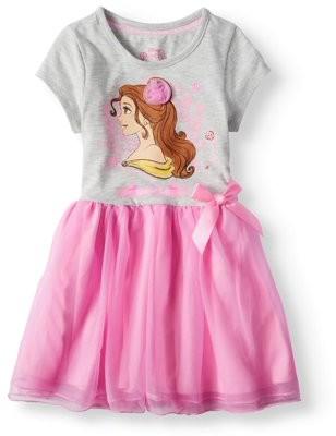 Beauty and the Beast Short Sleeve Tutu Dress (Little Girls)