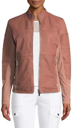 Neiman Marcus Anatomie Erin Perforated Leather Jacket