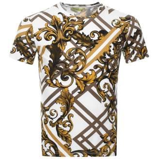 Versace Crew Neck Logo T Shirt White
