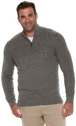 Izod Big & Tall Newport Classic-Fit Marled Quarter-Zip Pullover Sweater