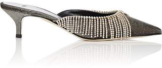 Area Women's Crystal-Embellished Lamé Mules