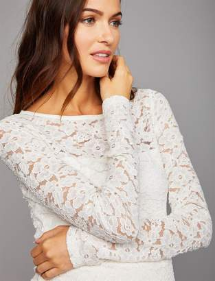 A Pea in the Pod Floral Lace Peplum Maternity Top