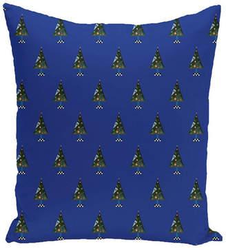 16 Inch Royal Blue Decorative Christmas Throw Pillow