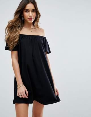 Asos DESIGN Off Shoulder Mini Dress