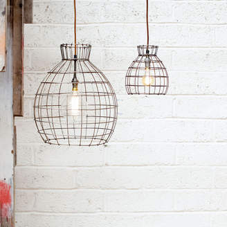 Nkuku Deevika Pendant Light - Oxidised Steel - Small