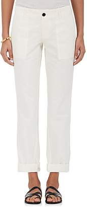 VIS A VIS Women's Cotton-Linen Twill Slim Carpenter Pants