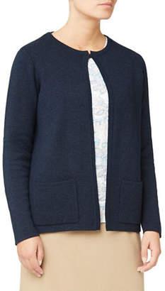 EASTEX Merino Wool-Blend Open Cardigan