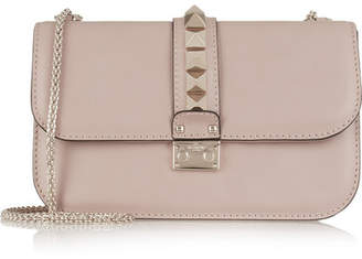 Valentino - Lock Medium Leather Shoulder Bag - Blush $2,345 thestylecure.com