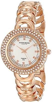 Akribos XXIV Amazon Exclusive Women's AK804RG Diamond-Accented -Tone Watch