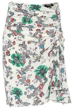 Isabel Marant Cereny floral stretch-silk skirt