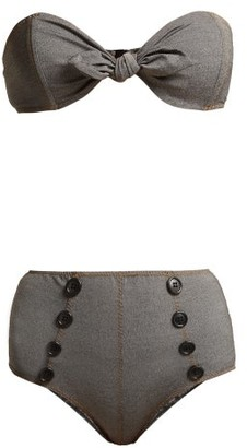 Lisa Marie Fernandez Poppy Strapless Bandeau Bikini - Womens - Black