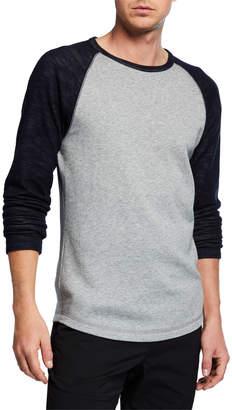 Vince Men's Colorblock Double Knit Long-Sleeve Shirt