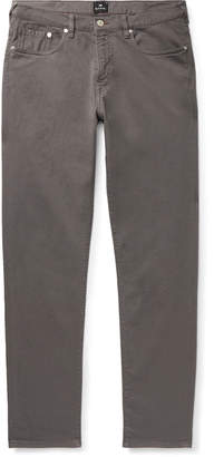 Paul Smith Slim-Fit Tapered Garment-Dyed Denim Jeans - Men - Gray