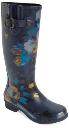 Chooka Nina Floral Mid Calf Rain Boot