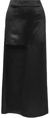 J.W.Anderson Cutout Silk-satin Maxi Skirt - Black